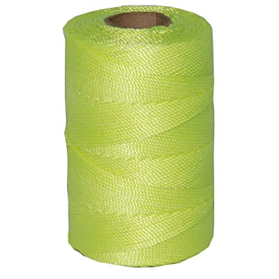 T.W Evans Cordage 11-185 Number-18 Twisted Nylon Mason Line with 550-Feet Tube, Fluorescent Yellow: Home Improvement
