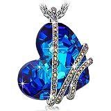 """Pauline & Morgen """"goccia di Venere"""" Collana donna-cristallo SWAROVSKI ELEMENTS blu-colore oro bianco"""