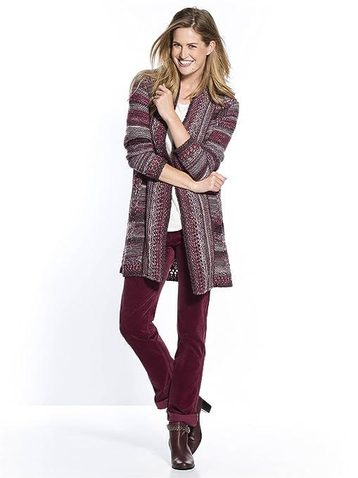 c8fbc3611fb55 Balsamik - Gilet long maille jacquard - femme Morpho H - Taille   38 40 -  Couleur   Multicolor  Amazon.fr  Vêtements et accessoires