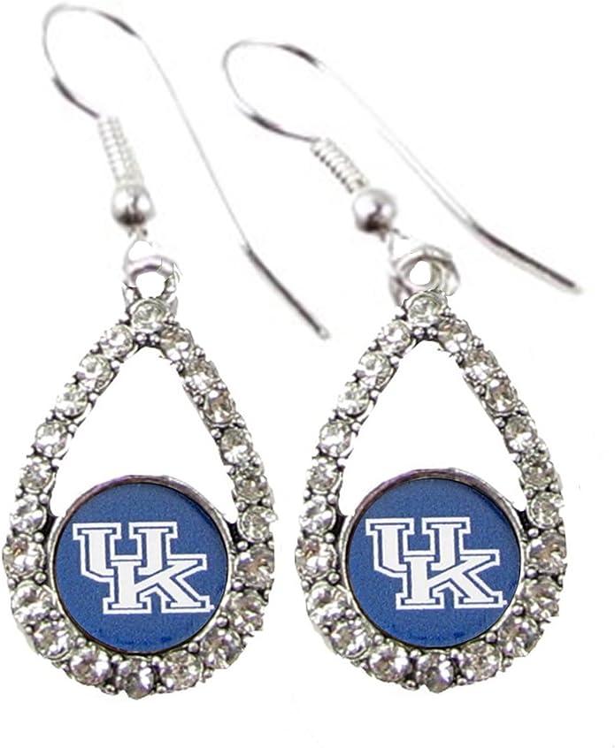 Silver Nitro USA NCAA Kentucky Wildcats Womens Wildcats Paw Tassel Earrings One Size