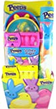 Peeps Basket with Candy Marshmallow Chicks, Puzzle, and Catching Game