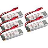 Combo: 5pcs of 3.7V 600mAh 25C LiPO Battery for UDI U818A/818A-1 2.4G 4CH RC Quad Copters
