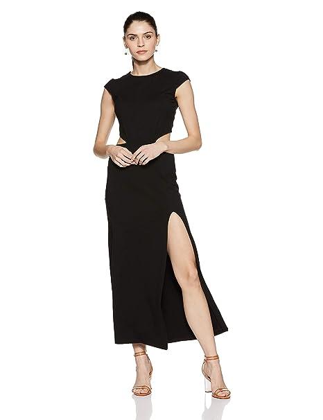 7518b641d8e Stalk Buy Love Women s Fanny Cut Out Maxi Dress  (In1720Mtodrebla-649 Black L)