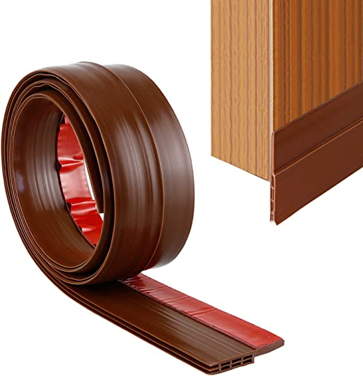 YOUSHARES Door Seal Door Draught Excluder White Door Weather Stripping Rubber Door Draft Sweep Stopper for Soundproof and Keep Warm