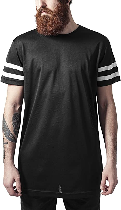 Urban Classics Stripe Mesh Tee T Shirt Uomo