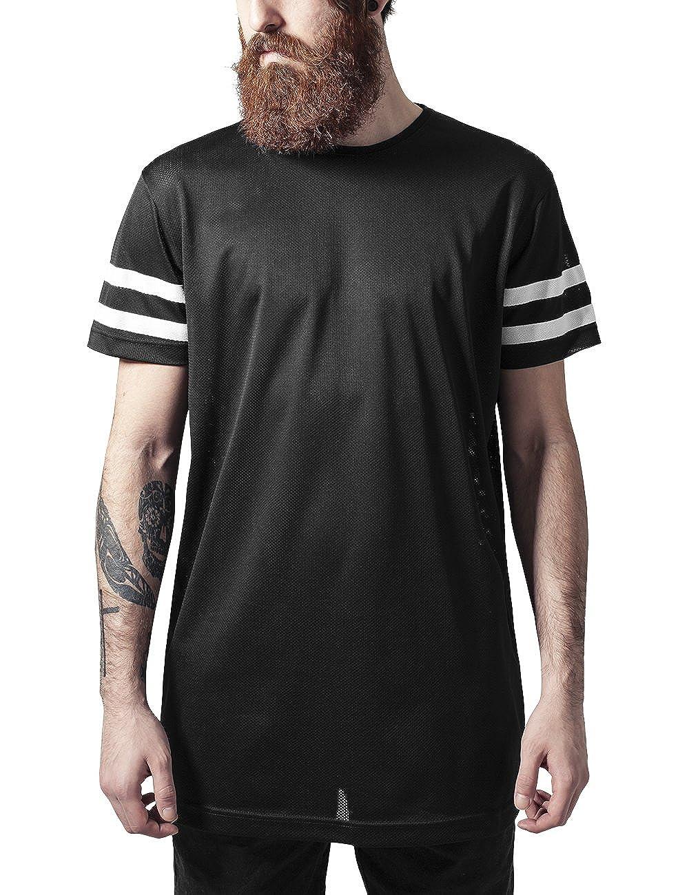 Urban Classics Stripe Mesh Tee, T-Shirt Uomo TB1236