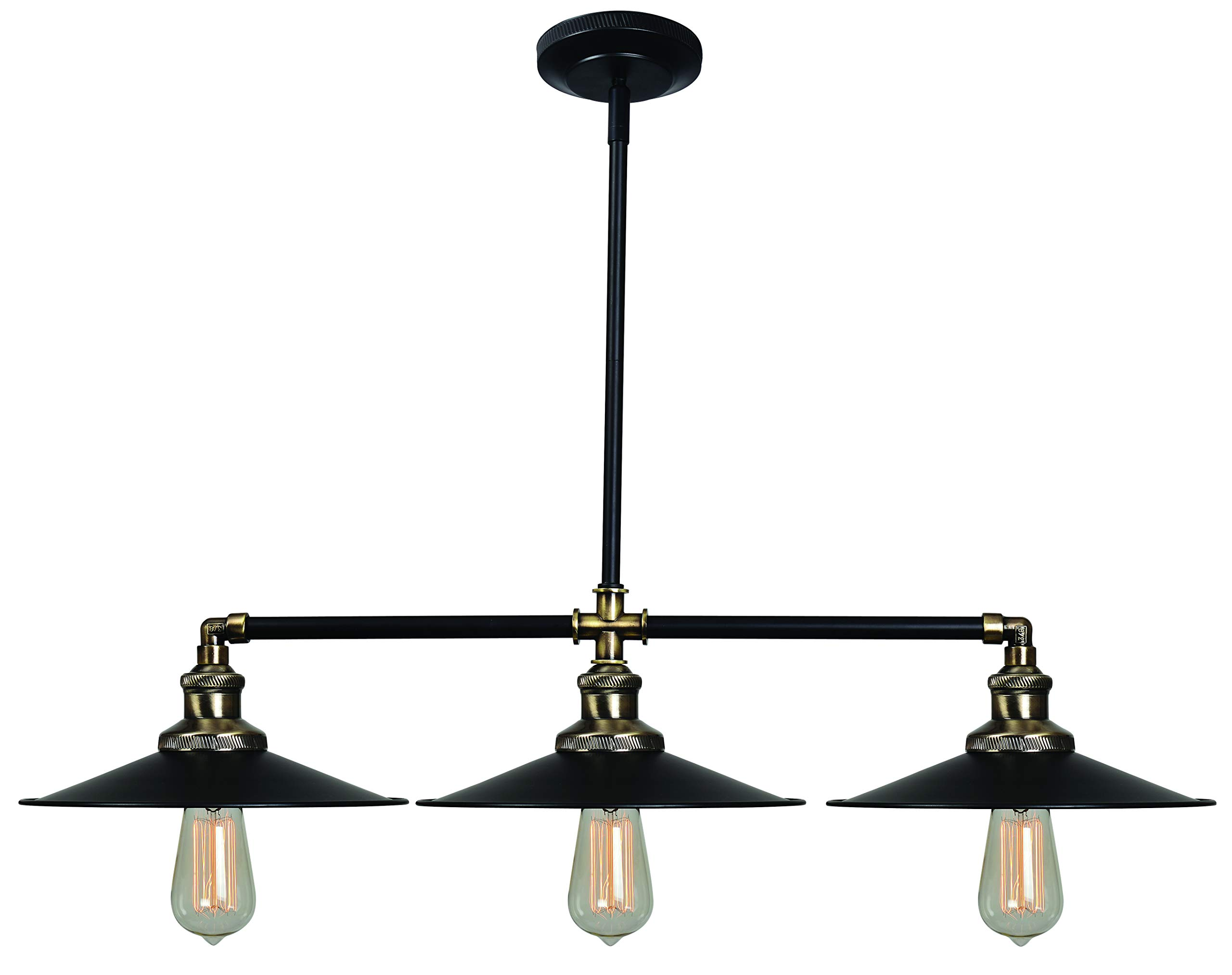 Kenroy Home Ancestry 3 Light Island Black/Antique Bronze