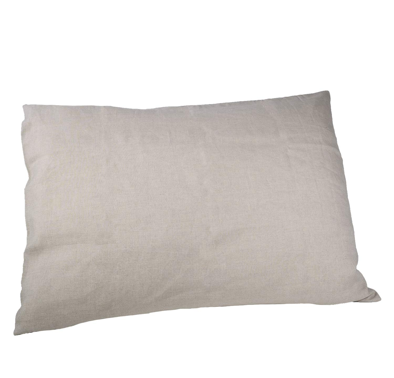 Linen Pillow Slip White, standard 20 x 26