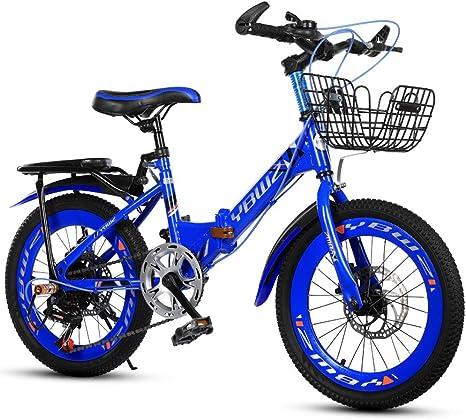ANYURAN Bicicleta para Niños Bicicleta De Montaña 18 10 22 Pulgadas Hombres Y Mujeres Bicicleta De Cochecito De Bebé,Blue,18inches: Amazon.es: Deportes y aire libre