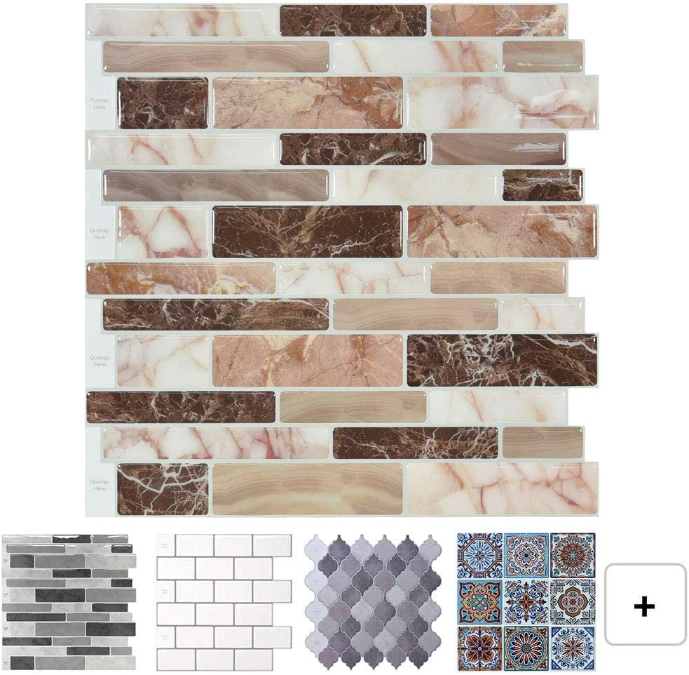 - Amazon.com: Peel And Stick Tile Backsplash For Kitchen, Marble