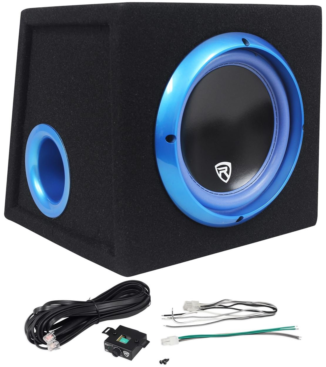 Rockville RVB12.1A 12 Inch 500W Active Powered Car Subwoofer+Sub Enclosure Box Audiosavings