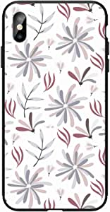 Okteq Case for iphone XS Max Shock Absorbing PC TPU Full Body Drop Protection Cover matte printed - Flowers By Okteq