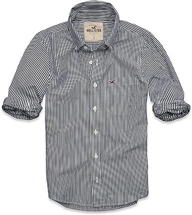 Hollister - Camisa casual - para hombre blanco blanco: Amazon.es: Ropa y accesorios