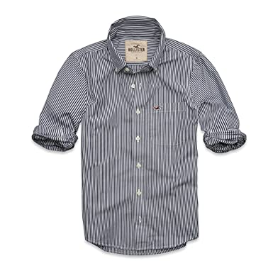 Hollister - Camisa casual - para hombre blanco blanco: Amazon.es ...
