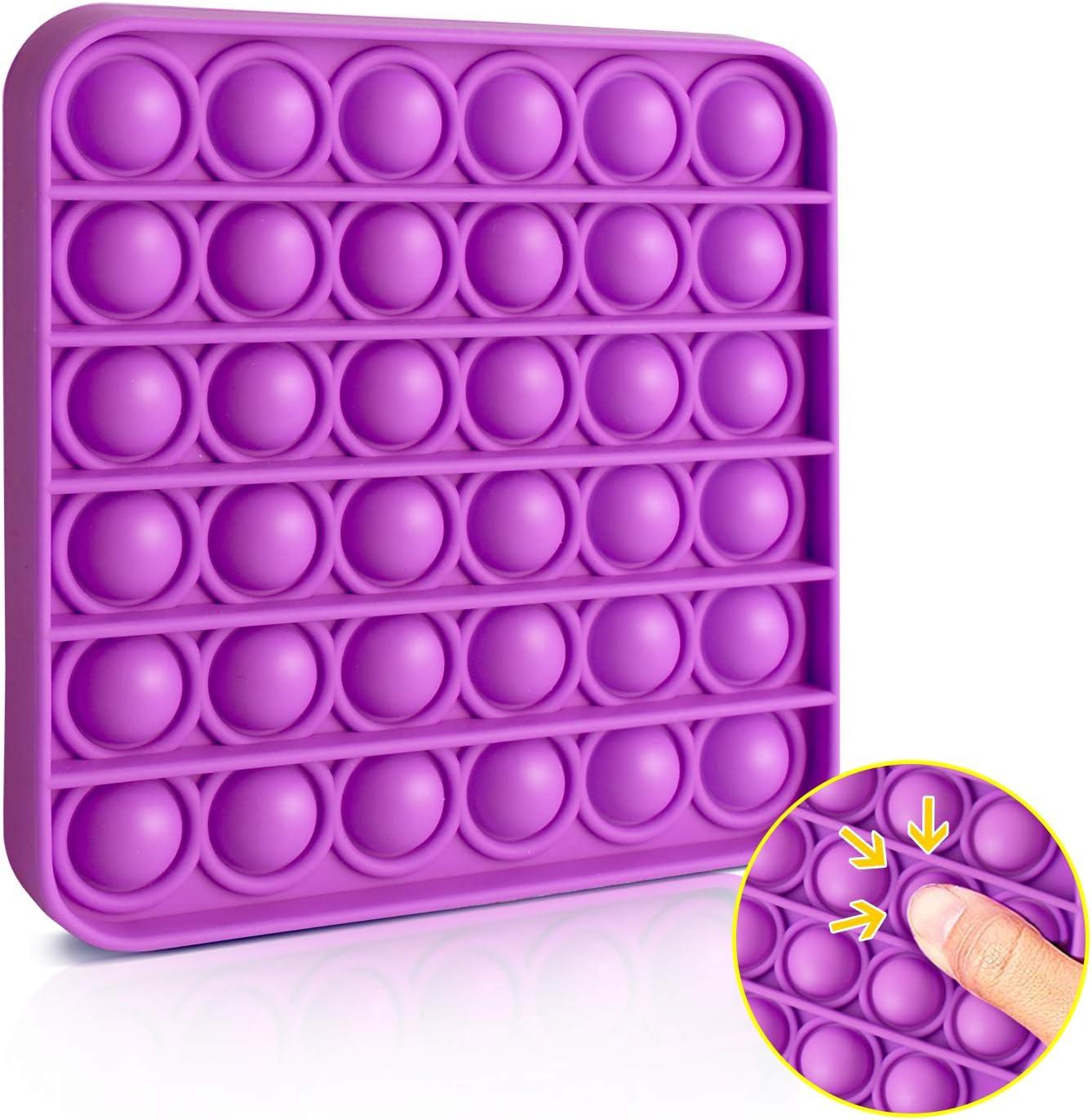 VCOSTORE Pop Pop Bubble Sensory Fidget Toys Extrusion Bubble Fidget Sensory Toys Estrés Anti-Ansiedad Alivio para niños Adultos