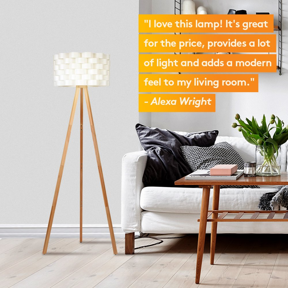 Brightech Bijou LED Tripod Floor Lamp Contemporary Design For Modern Living  Rooms   Soft, Ambient Lighting, Tall Standing Easel Survey Lamp For  Bedroom, ...