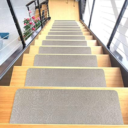 Charmant Designer Indoor Stair Mats, Ultra Thin Microfiber Stair Carpet With  Slip Resistant Rubber