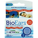 Bio Ears Soft Silicone EarPlugs Protection - 3 Pairs (Light Blue, 3 Packs)
