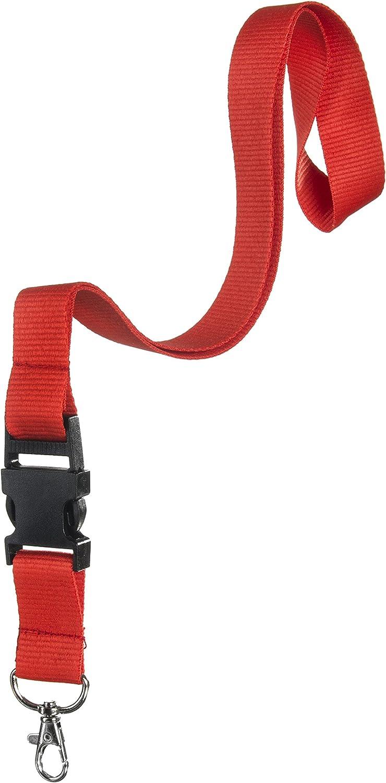 Karteo/® Ausweish/ülle mit Schl/üsselband schwarz Lanyard mit Karabinerhaken und Schnalle