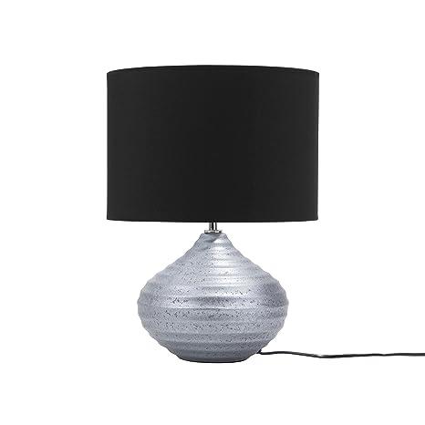 Lámpara de mesa plateada KUBAN: Amazon.es: Iluminación