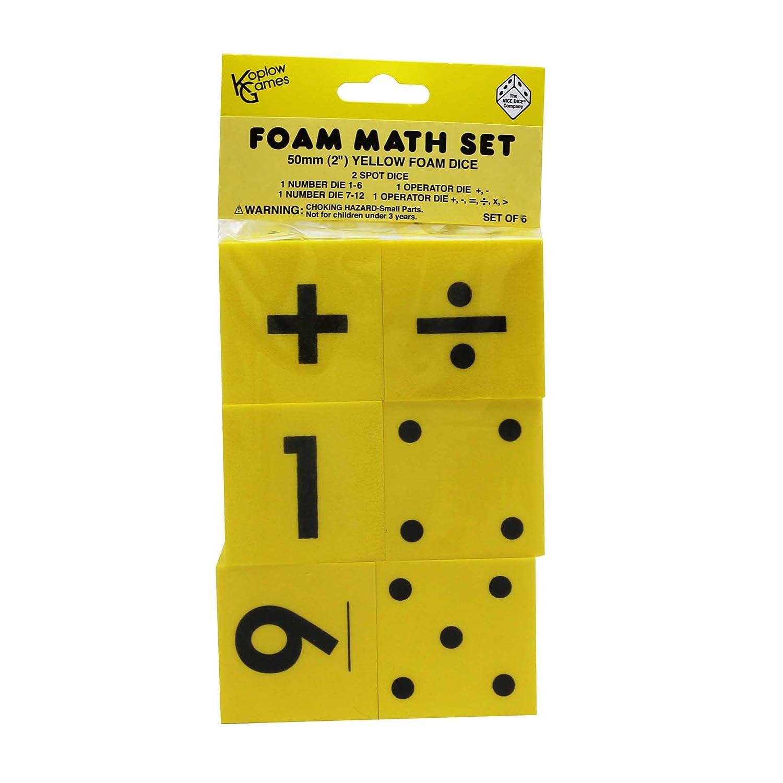 Koplow GAMES KOP11697 FOAM DICE 2 Set von 6 6 6 B004K0C5TA | Erste Gruppe von Kunden  7d8e03