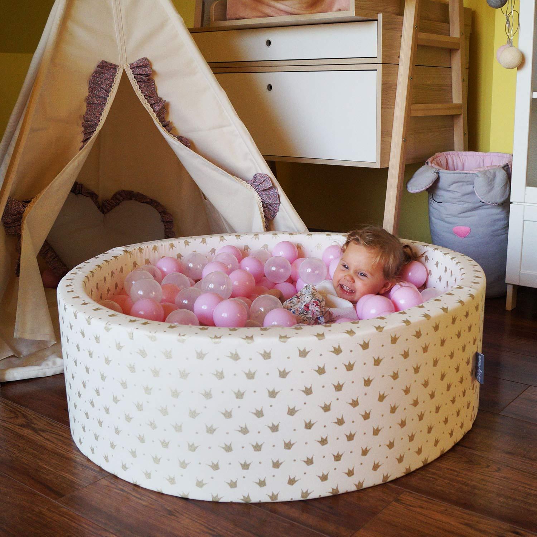 KiddyMoon 700 /∅ 7CM Palline Morbide Colorate per Piscina Bambini Fatto in EU Verde Ch//Giallo//Turchese//Arancione//Rosa Sc//Viola