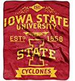 "The Northwest Company Officially Licensed NCAA Iowa State Cyclones College Label Plush Raschel Throw Blanket, 50"" x 60"", Multi Color"