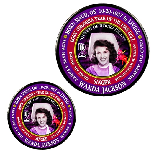 Amazon com: Wanda Jackson Singer Magnet + Pin, Astrology Libra