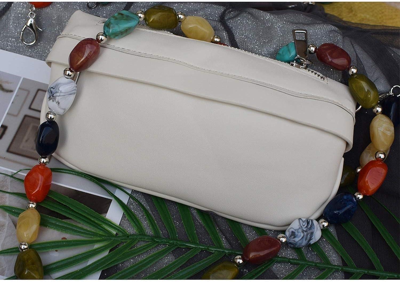 Updating Resin Colored Stone Handbag Strap Girls Big Size FashionBead Wristlet Purse Bag Belt