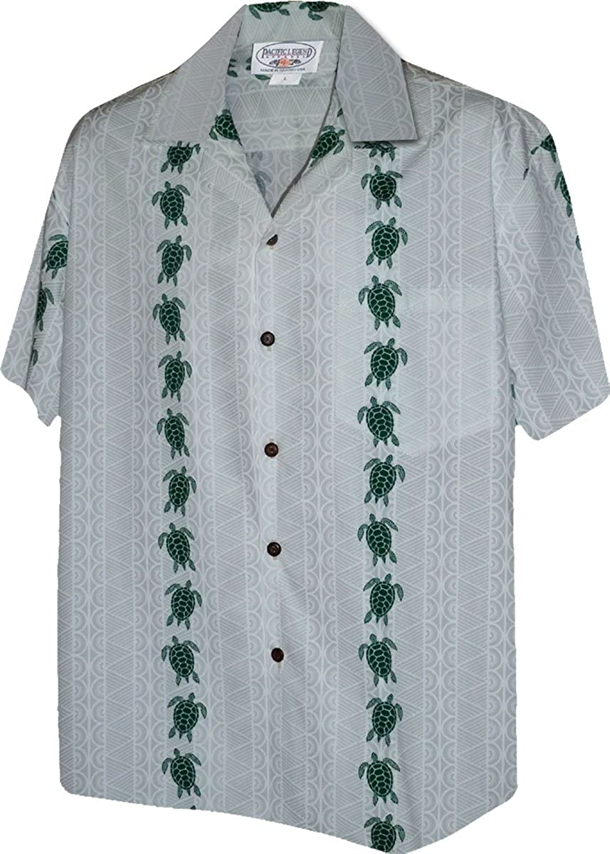 Turtle Panel Mens Aloha Shirts