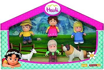 Heidi Pack de figuras y mascotas (Famosa 700012780): Amazon.es: Juguetes y juegos