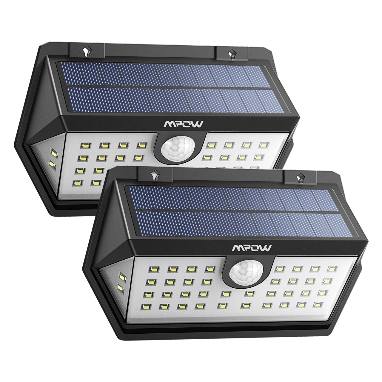 [Nouvelle Génération] Mpow Lampe Solaire Extérieur 2 Pack 40 LED Spot Solaire Etanche IP65, Détecteur de Mouvement, 3 Modes Intelligents, Panneau Solaire Amélioré avec Grand Angle, Luminaire Exterieur pour Allée, Escalier, Jardin, Mur, Maison, Patio etc. product image