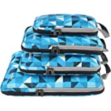 Bagail 4 Set Compression Packing Cubes Travel Expandable Packing Organizers