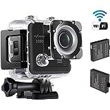 NexGadget アクションカメラ 1080P  Wifi スポーツカメラ 170度広角 30m防水
