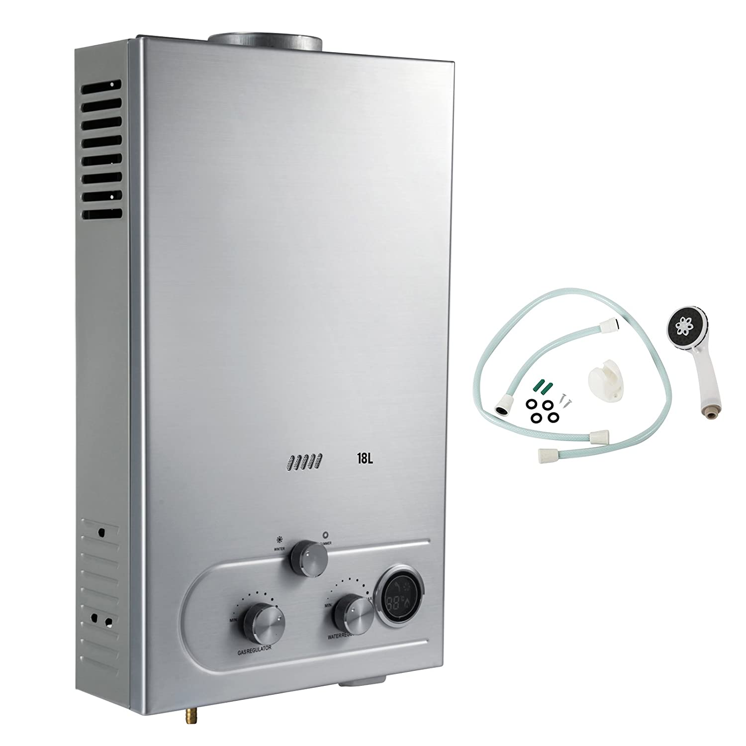 Water heaters amazon vevor propane gas tankless water heater 18l 45gmp propane water heater lpg liquid propane gas fandeluxe Image collections