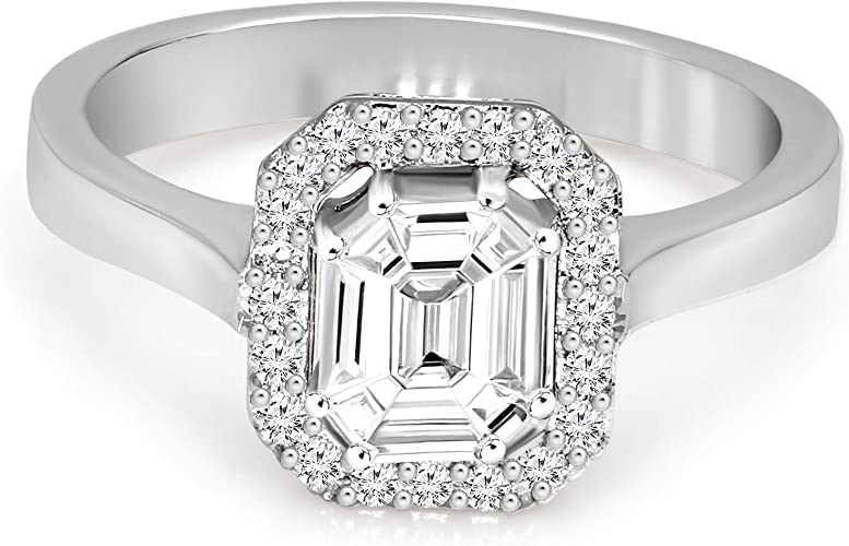 Mens Ring Engagement Ring 3 4ct Certified Emerald Cut Black