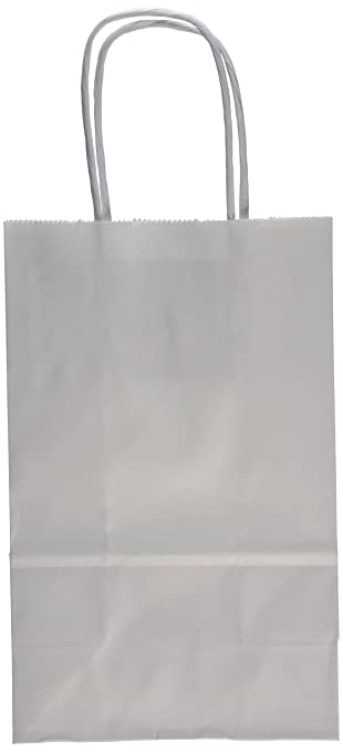 Amazon.com: Creative Hobbies 24 White Small Paper Gift Handle Bags ...