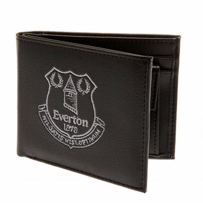 Everton FC - Cartera oficial de Everton FC con escudo bordado para hombre (Talla Única/Negro): Amazon.es: Ropa y accesorios