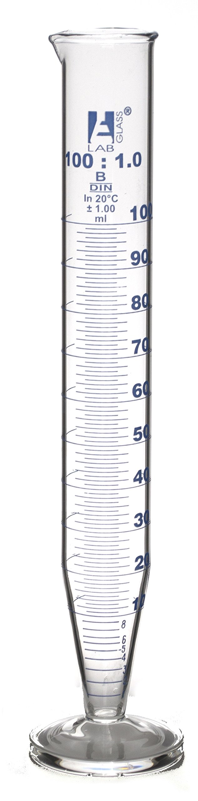 100mL Crow Receiver for Distillate in Oil and Tar Tests, Borosilicate 3.3 Glass, Class B (10'' Height) - Eisco Labs