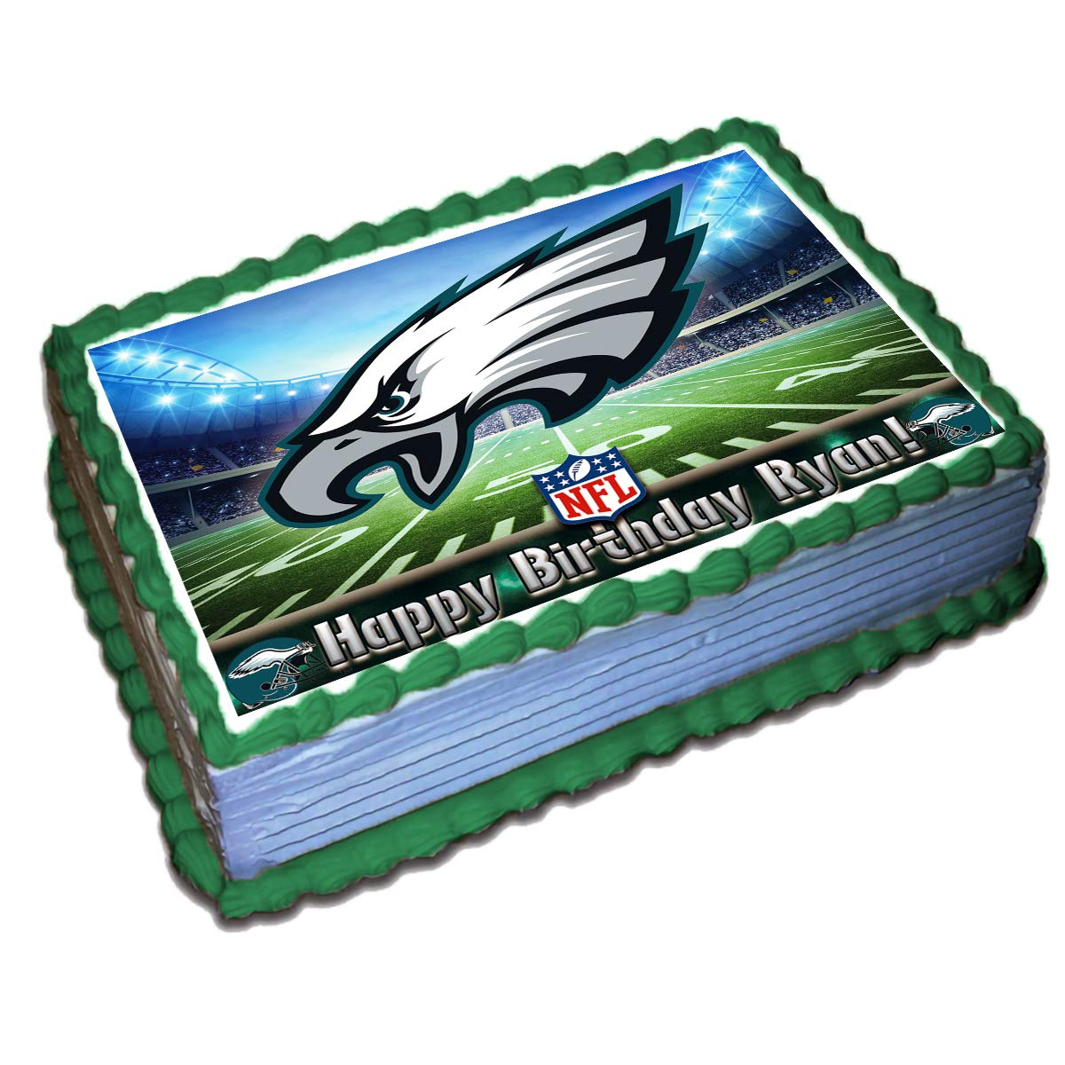 Marvelous Philadelphia Eagles Nfl Personalized Cake Topper Icing Sugar Paper Personalised Birthday Cards Veneteletsinfo
