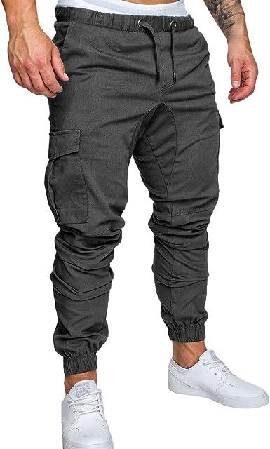 Pantalones De Los Hombres Pantalones Chándal Casual Slim Corte De ...