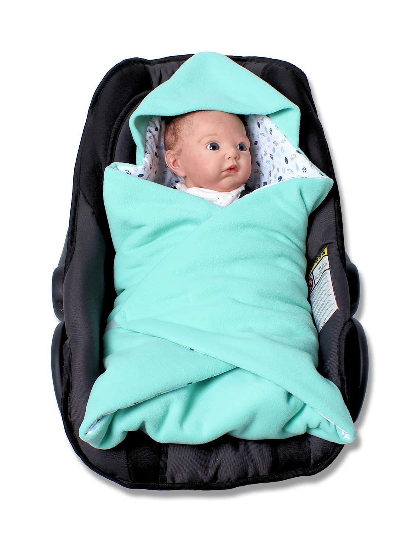 Einschlagdecke f/ür die Babyschale Fu/ßsack f/ür kalte Tage in verschiedenen Farben von HOBEA-Germany Farben Winterdecken:blau