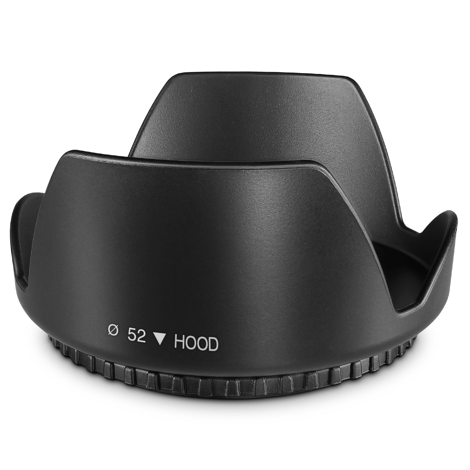 52MM Tulip Flower Lens Hood for Nikon AF-S 18-55mm, 55-200mm f/4-5.6G ED VR II, 50mm f/1.8D, 35mm f/1.8G, Pentax 18-55mm and Select Canon, Sony, Sigma and Tamron Lenses