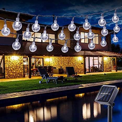 Guirnalda luces exterior solares, BrizLabs 6.5M 30 LED Cadena de ...