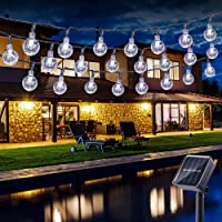 Guirnalda luces exterior solares, BrizLabs 6.5M 30 LED Cadena de Luces impermeable 8…