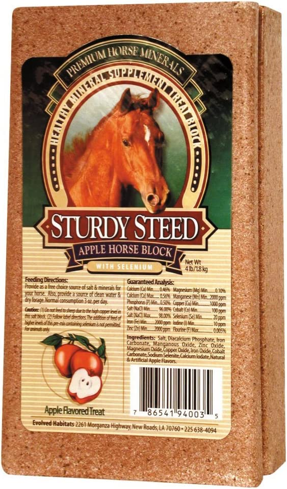Sturdy Steed Healthy Mineral Supplement Apple Treat Block For Horses, 4 Pounds