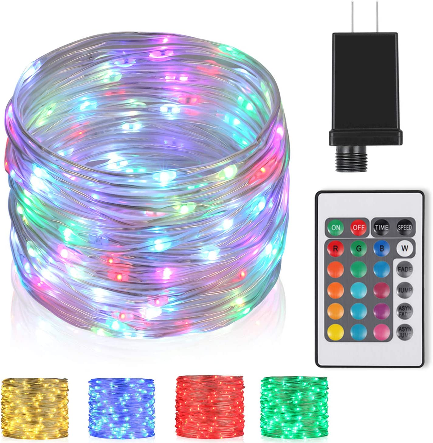 ✅10-100M LED Mains Plug In String Fairy Light Garden Xmas Tree Outdoor CE /& RoHS