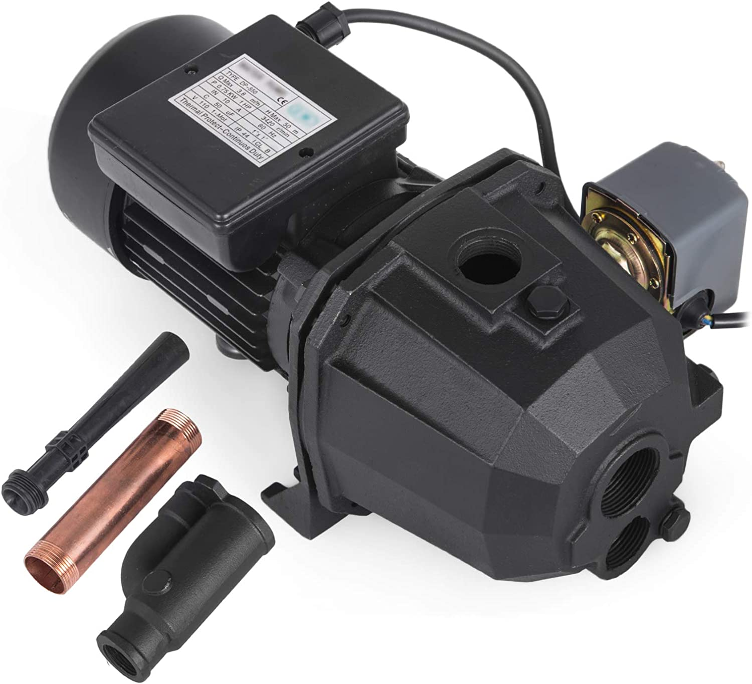 3//4 HP Shallow or Deep Well Jet Pump w//Pressure Switch Supply Water Homes Cabins