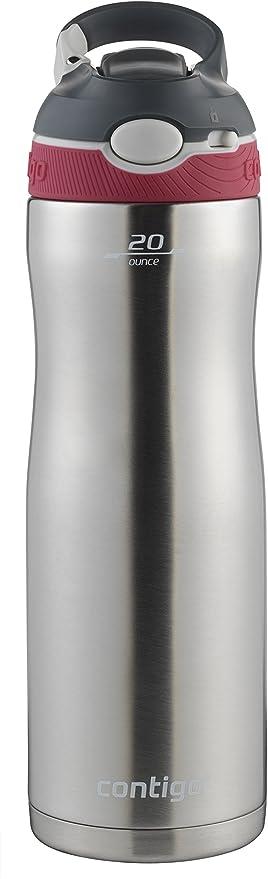 Contigo 20 oz Ashland Chill Autospout Stainless Steel Water Bottle