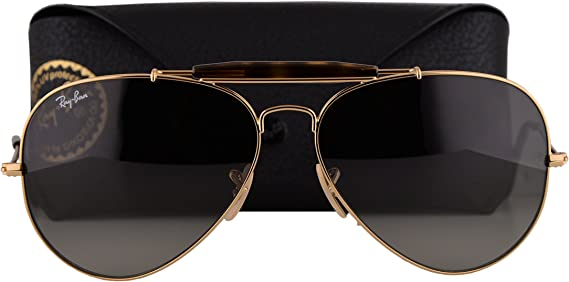 ray ban aviator sunglasses gold frame black lens